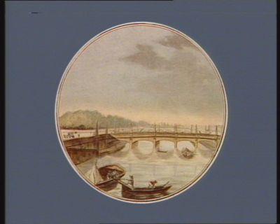 Vue du pont de Louis XVI , en face de la place de Louis XV commencé en 1787, d'après les desseins de M. Peronnet : [estampe]
