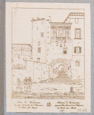 Casa dei Borgia. Prospetto del resto della casa su via Cavour