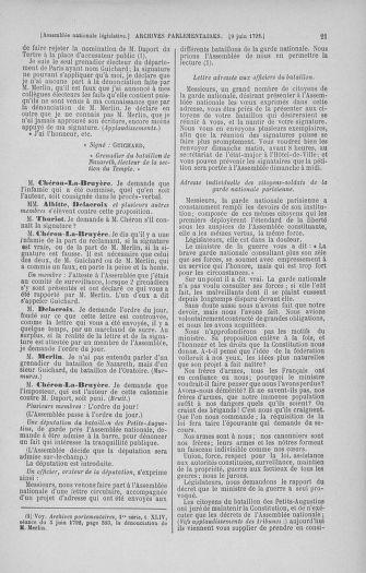 Tome 45 : Du 9 au 30 juin 1792 - page 21