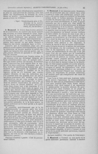 Tome 45 : Du 9 au 30 juin 1792 - page 25