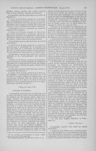 Tome 45 : Du 9 au 30 juin 1792 - page 53