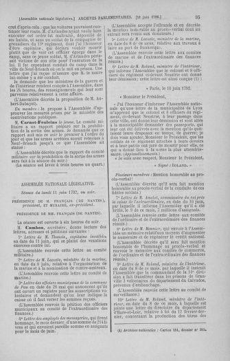 Tome 45 : Du 9 au 30 juin 1792 - page 95