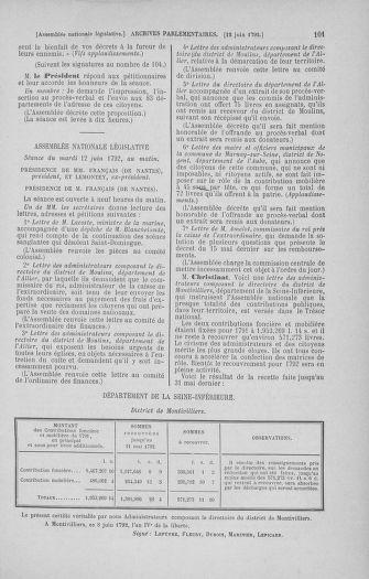 Tome 45 : Du 9 au 30 juin 1792 - page 101