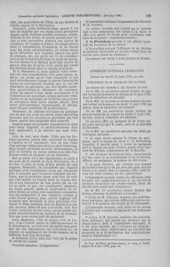 Tome 45 : Du 9 au 30 juin 1792 - page 123