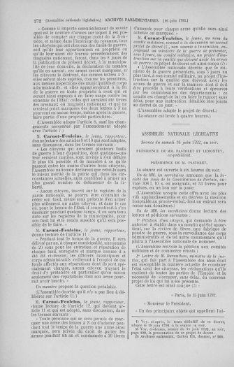 Tome 45 : Du 9 au 30 juin 1792 - page 272