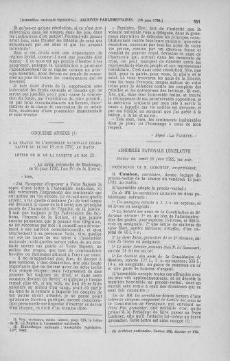 Tome 45 : Du 9 au 30 juin 1792 - page 351