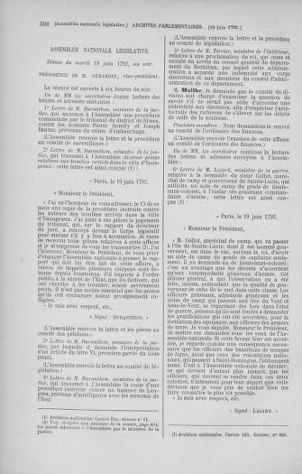 Tome 45 : Du 9 au 30 juin 1792 - page 396