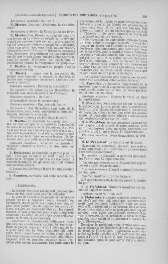 Tome 45 : Du 9 au 30 juin 1792 - page 399