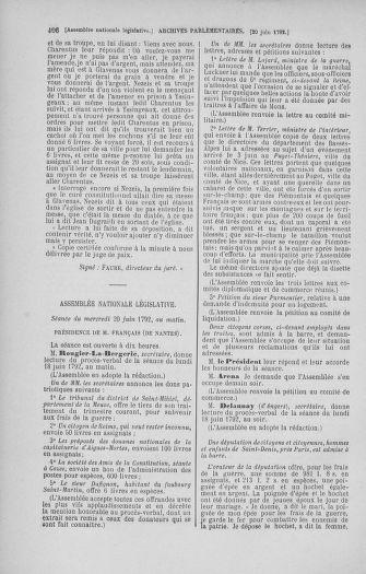 Tome 45 : Du 9 au 30 juin 1792 - page 406