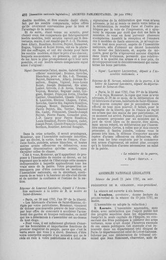 Tome 45 : Du 9 au 30 juin 1792 - page 452