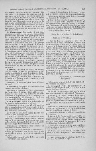 Tome 45 : Du 9 au 30 juin 1792 - page 453