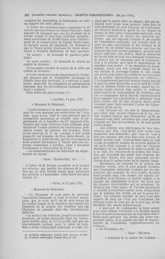 Tome 45 : Du 9 au 30 juin 1792 - page 480