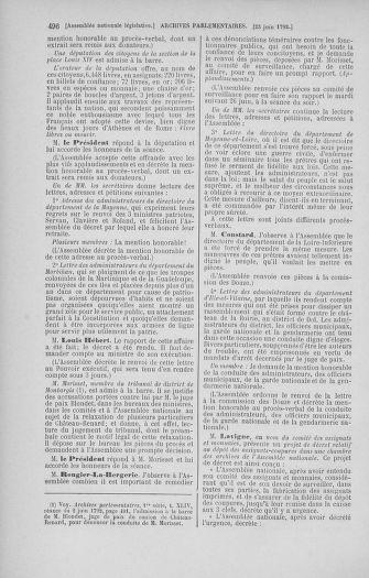 Tome 45 : Du 9 au 30 juin 1792 - page 496