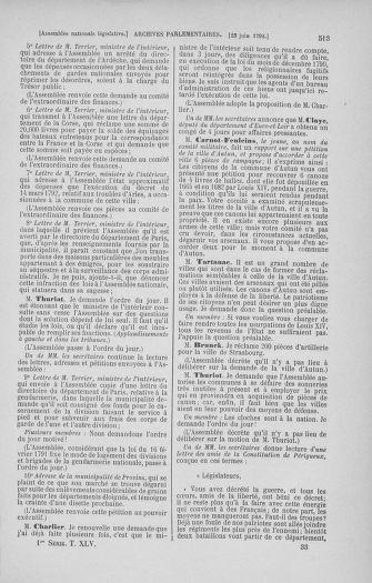 Tome 45 : Du 9 au 30 juin 1792 - page 513