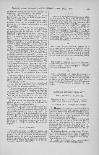 Tome 45 : Du 9 au 30 juin 1792 - page 525