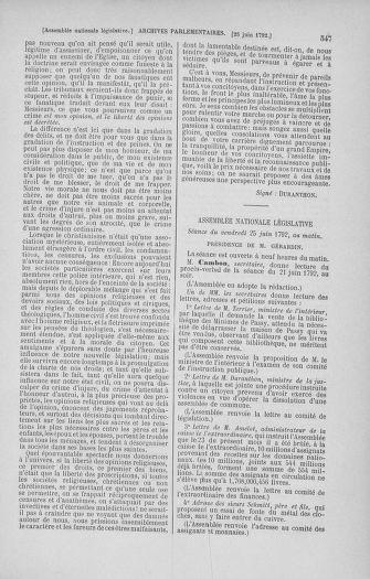 Tome 45 : Du 9 au 30 juin 1792 - page 547