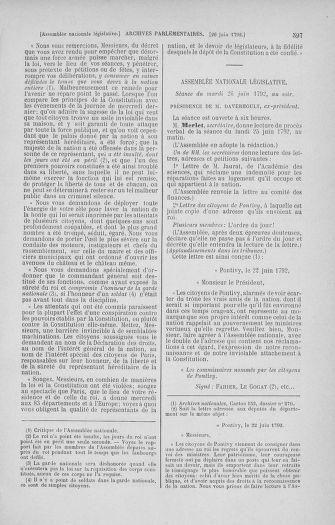 Tome 45 : Du 9 au 30 juin 1792 - page 597