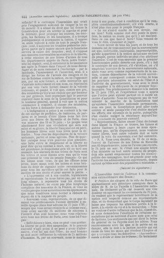 Tome 45 : Du 9 au 30 juin 1792 - page 644