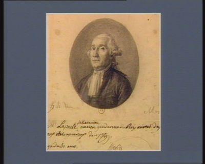 Mr Lapoule de Besançon ancien gendarme du Roy avocat, de[puté] aux Etats generaux de 1789, [â]gé de 51 ans : [dessin]