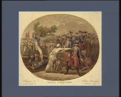 Bravoure des femmes parisiennes à la journée du <em>5</em> octobre <em>1789</em> dédiée aux femmes : [estampe]