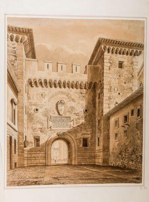 Porta di Alessandro VI in Roma, esterno