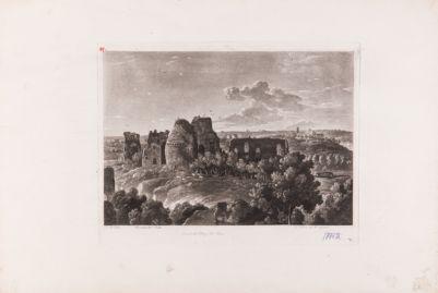 Palatino, veduta generale con sfondo di S. Sabina e l'Aventino