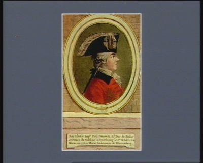 Son Altesse Imp.le Paul Petrowitz, G.d Duc de Russie et Prince du Nord né <em>à</em> Petersbourg le 1.er octob.e 1754 marié en 1776 <em>à</em> Marie Foederowna de Wurtemberg : [estampe]