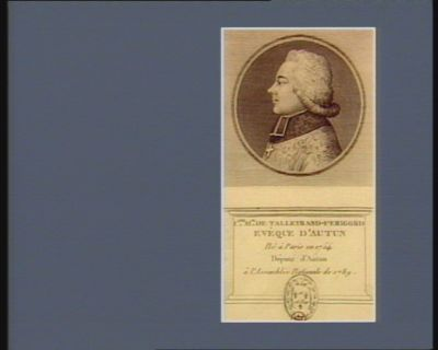 C.les M.ce de Talleyrand-Perigord evêque d'Autun né à Paris en 1754 député d'Autun à l'Assemblée nationale de 1789 : [estampe]