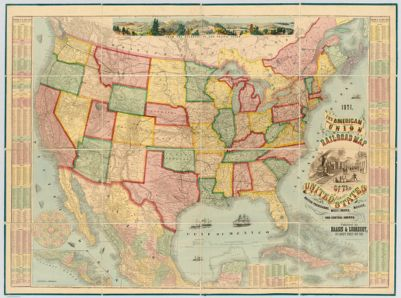 Dinsmores Complete Map Of The Railroads Canals In The United