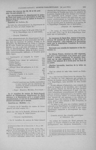 Tome 73 : Du 25 août au 11 septembre 1793 - page 109