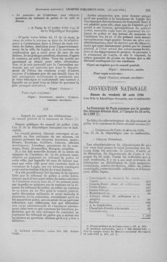 Tome 73 : Du 25 août au 11 septembre 1793 - page 191