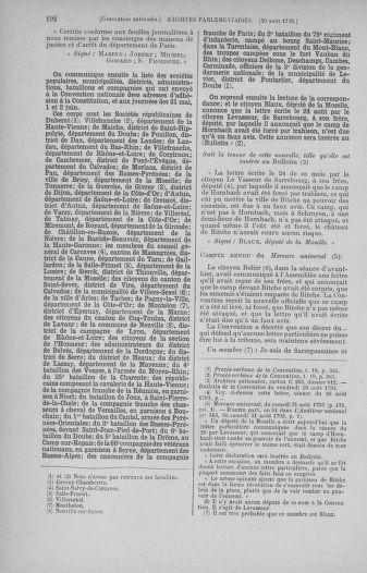 Tome 73 : Du 25 août au 11 septembre 1793 - page 192