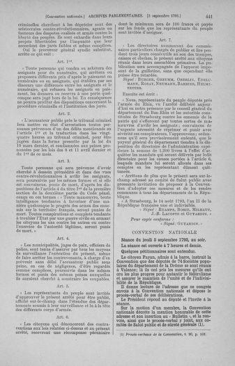 Tome 73 : Du 25 août au 11 septembre 1793 - page 441