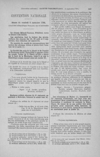 Tome 73 : Du 25 août au 11 septembre 1793 - page 443