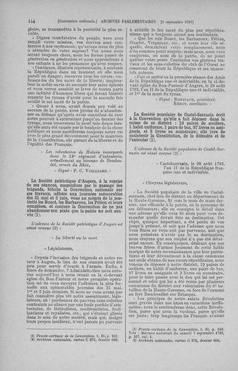 Tome 73 : Du 25 août au 11 septembre 1793 - page 444