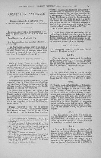 Tome 73 : Du 25 août au 11 septembre 1793 - page 509