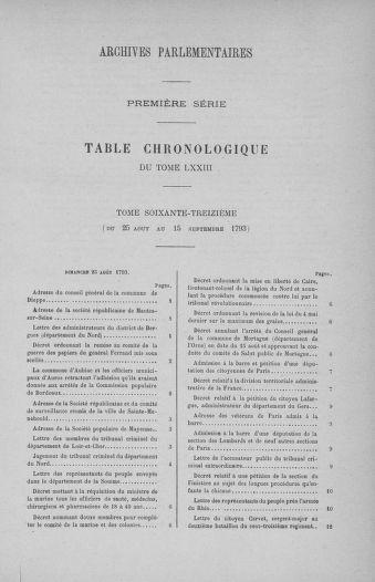 Tome 73 : Du 25 août au 11 septembre 1793 - page ..