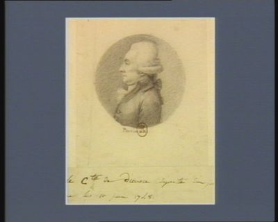Le  C.te de Dieusie député d'Anjou né le 11 juin 1748 : [dessin]
