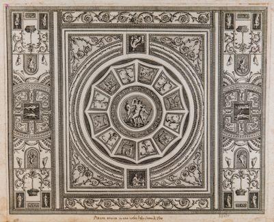 Pittura antica in una volta delle Terme di Tito