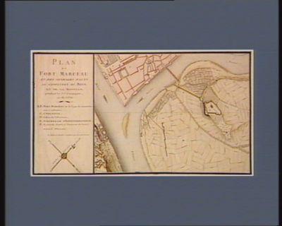 Plan du Fort Marceau et des ouvrages faits au confluent du Rhin et de la Moselle [dessin]