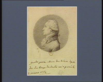 Gaston Pierre Marc duc de Levis député du bailliage de Senlis né a <em>Paris</em> le 7 mars 1764 : [dessin]
