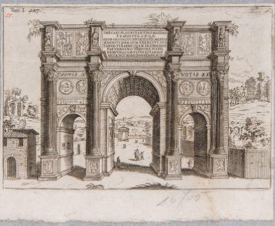 Arco di Costantino, visto di prospetto da est