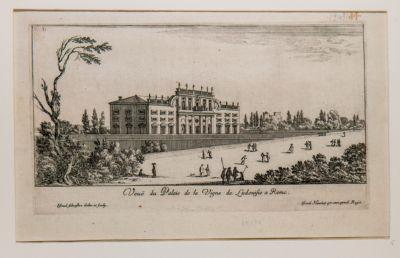 Veduta del Palazzo della Vigna Ludovisi a Roma