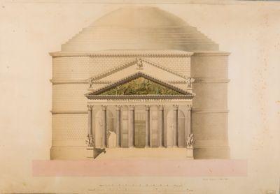 Pantheon. Pronao, ricostruzione