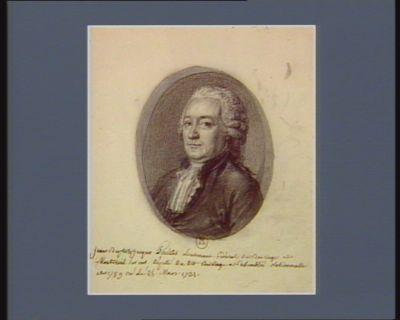 Jean Baptiste Jacques Poultier lieutenant général du baillage de Montreuil sur Mer, député du dit baillage a l'Assemblée nationalle en 1789 né le 25 mars 1731 : [dessin]