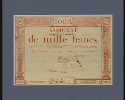 Assignat de mille francs [estampe]