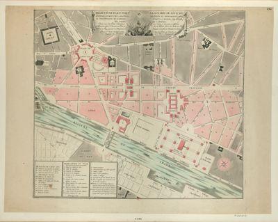 Projet d'une place publi[que] a la gloire de Louis XVI sur l'emplacement de la Bastille ses fossés et dépendances avec la continuation du rampart jusqu'a la rivière, sur partie des fossés de l'Arsenal... : dédié au Roy, présenté à sa Majesté, et à l'auguste Assemblée des députés de la nation par le sr Corbet... en 1790 : [estampe]