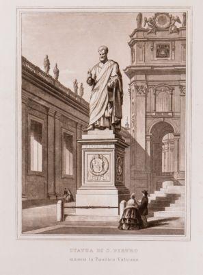 Statua di S. Pietro innanzi la Basilica Vaticana
