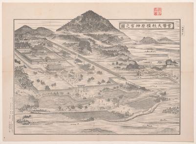Kanpei Taisha Kashihara Jingū no zu