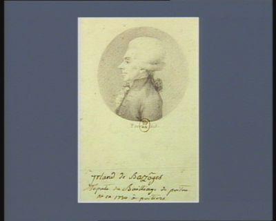 Irland de Bazôges député du bailliage de Poitou né en 1750 à Poitiers : [dessin]